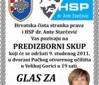 Predizborni skup u Velikoj Gorici