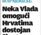 HČSP Njemačka: Neka Vlada omogući Hrvatima dostojan život