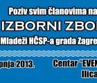 Poziv na Izborni zbor Mladeži HČSP-a grada Zagreba