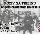"""Poziv na javnu tribinu """"80. obljetnica atentata u Marseilleu"""""""